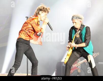 Rolling Stones  Mick Jagger ,Keith Richards  Buffalo 7/11/2015  photo Michael Brito - Stock Photo