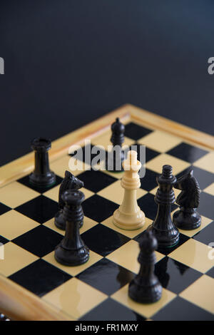 Chess pieces on a chess board. Chess game. - Stock Photo