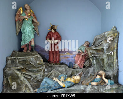 Agony in the garden, cemetery in Ursberg, Germany on June 09, 2015. - Stock Photo