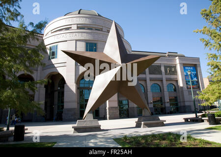 Learn about the Lone Star State's origins and colorful history at the $80 million Bob Bullock Texas State History - Stock Photo