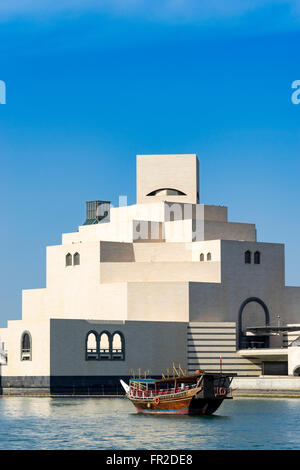 View of Museum of Islamic Art in Doha Qatar - Stock Photo