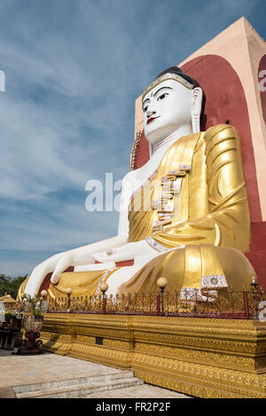 Kyaikpun Buddha Pagoda in Bago, Burma (Myanmar) - Stock Photo