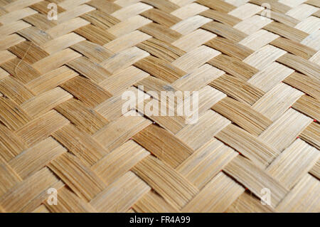 Woven bamboo strips for background texture - Stock Photo