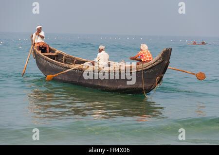 Fishing boat of Kerala - Stock Photo