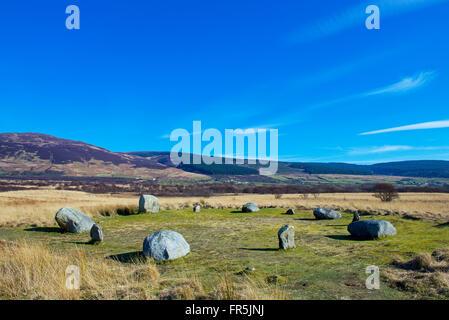 Standing Stones on Machrie Moor, Isle of Arran, North Ayrshire, Scotland UK - Stock Photo