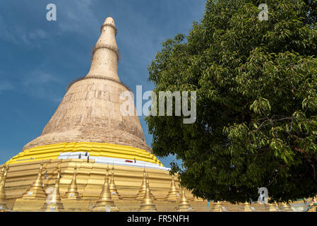 Shwemawdaw Pagoda (Golden God Temple) in Bago, Myanmar (Burma) - Stock Photo