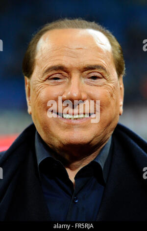 Silvio Berlusconi Milano 20-03-2016 Stadio Giuseppe Meazza - Football Calcio Serie A Milan - Lazio. Foto Giuseppe - Stock Photo