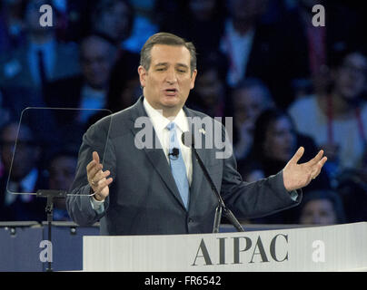Washington DC, USA. 21st March, 2016. United States Senator Ted Cruz (Republican of Texas), a candidate for the - Stock Photo