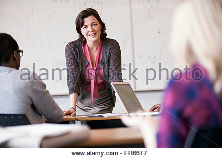 college instructor in front of class - Stock Photo