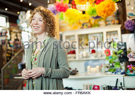 owner of stationery store - Stock Photo
