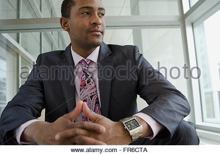 business man contemplating - Stock Photo
