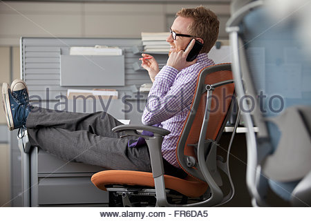 businessman on cell phone - Stock Photo