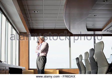 senior business man on phone call - Stock Photo