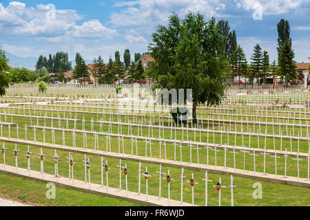 Republic of Macedonia, Bitola, the French cemetery - Stock Photo