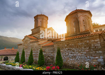 Republic of Macedonia, Ohrid, listed as World Heritage by UNESCO Site, the monastery St Naum - Stock Photo
