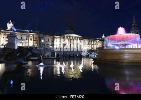National Gallery, Trafalgar Square, art gallery in London, UK - Stock Photo