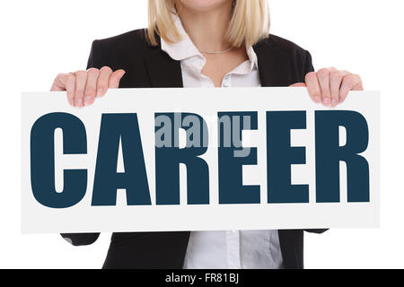 Career opportunities goals success successful and development business concept - Stock Photo