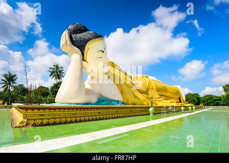 Bago, Myanmar at Mya Tha Lyaung reclining buddha. - Stock Photo