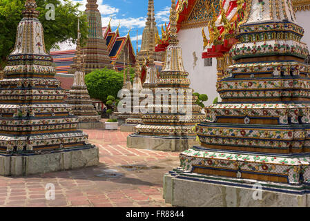 Wat Pho Temple grounds in Bangkok, Thailand. - Stock Photo