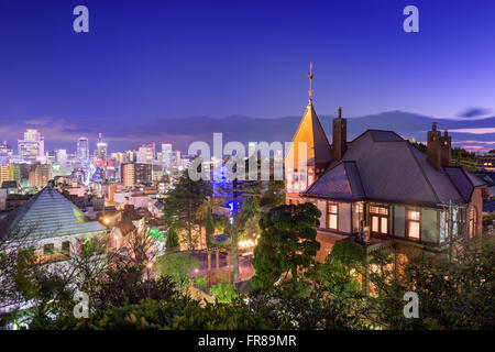 Kobe, Japan skyline from the historic Kitano District. - Stock Photo