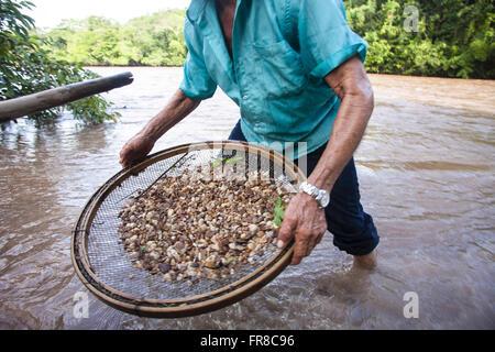Diamond mining in the district of Jauru - Stock Photo