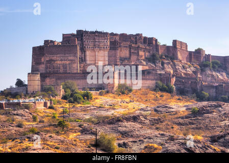 Mehrangarh Fort, Jodhpur, Rajasthan, India, Asia