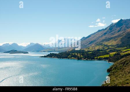 Lake Wakatipu - New Zealand - Stock Photo