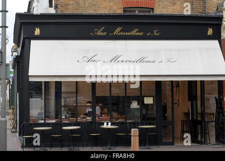 London, UK, 21 March 2016, Aux Merveilleux de Fred meringue patisserie  in Northcote Road Battersea SW11 - Stock Photo