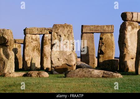 Stonehenge, near Amesbury, Wiltshire, England - Stock Photo