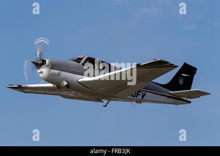 Beechcraft Bonanza G36 (registration N360FV) takes off from Palo Alto Airport (KPAO), Palo Alto, California, United - Stock Photo