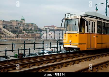 Tram in Budapest - Hungary - Stock Photo