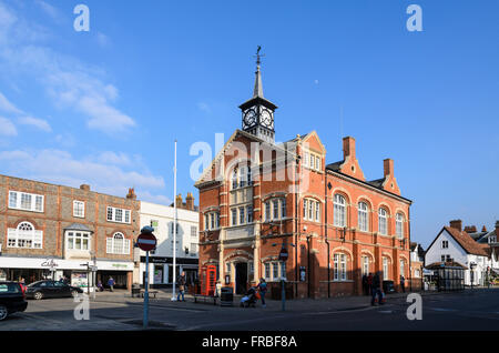 The Town Hall, home of Town Council, High Street, Thame, Oxfordshire, England, UK. - Stock Photo