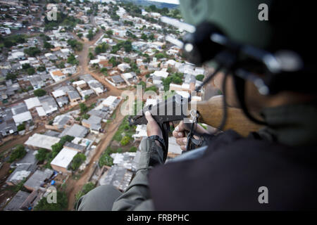 GRAER - Grouping Aeropolicial Aereo and Rescue Military Police of Parana - Stock Photo