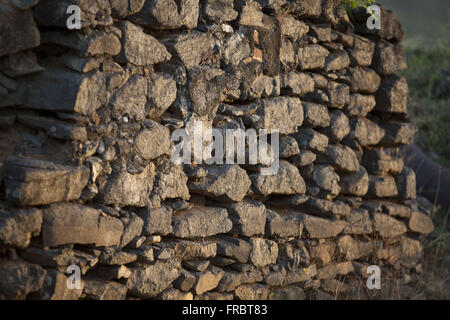Detail of the Fort of Our Lady of Remedios - construction 1737 - Stock Photo