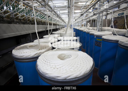 Industries yarn into a cooperative - produce pure cotton and mixed yarn - Stock Photo