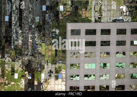 Building mirrored facade seen from the TV Tower - Stock Photo
