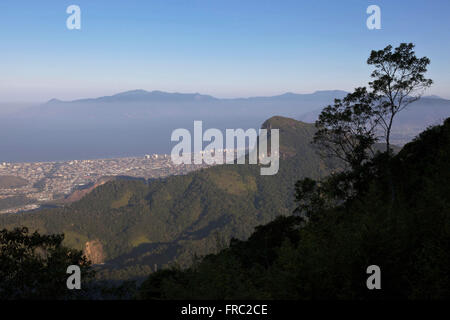 View of the Serra do Mar State Park in the municipality of Caraguatatuba Stock Photo
