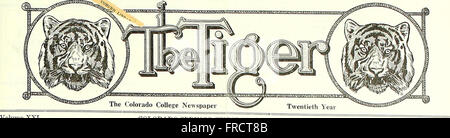 The Tiger (student newspaper), Sept. 1918-June 1919 (1918) - Stock Photo