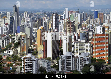 Vista de cima da cidade - Stock Photo