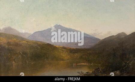 John Frederick Kensett - White Mountains from Shelburne, NH - Stock Photo