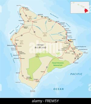 Oahu Road Map Stock Vector Art Illustration Vector Image - Hawaii road map