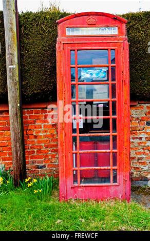Phonebox, Warthill, Yorkshire - Stock Photo