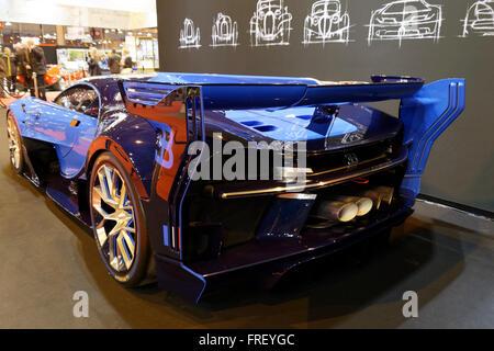 Bugatti Vision Gran Turismo at Retromobile Show in Paris, France. © Veronique Phitoussi / Alamy Stock Photo - Stock Photo