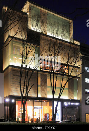 ... Japan, Tokyo, Omotesando, Louis Vuitton store, shopping, - Stock Photo