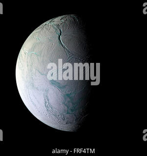 Enceladus planet isolated - Stock Photo