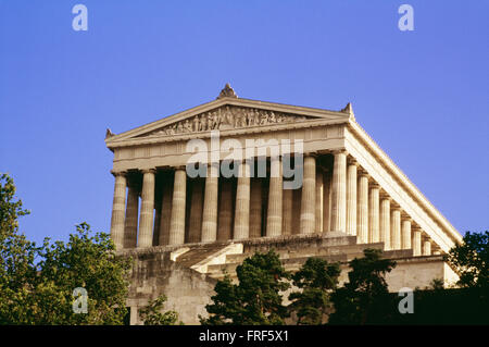 Walhalla Hall Near Regensburg, Bavaria, Germany - Stock Photo