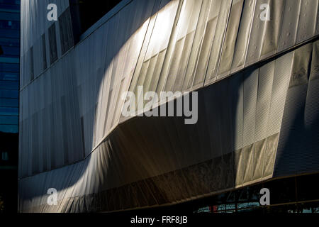 Convention Center in Forum area, Diagonal Mar district, Barcelona, Catalonia, Spain - Stock Photo