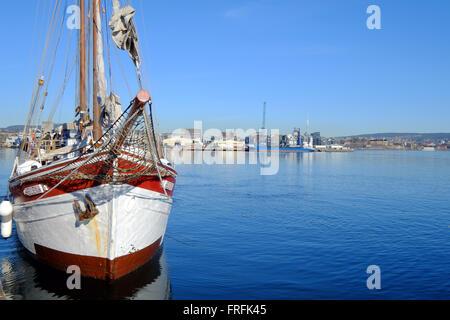 Oslo harbour, Norway - Stock Photo