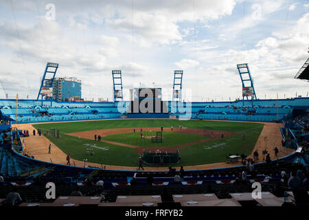 Havana, Florida, USA. 22nd Mar, 2016. WILL VRAGOVIC | Times.A view of the stadium before the game between the Tampa - Stock Photo