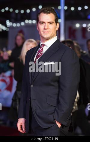London, UK. 22 March 2016. Actor Henry Cavill (Clark Kent/Superman). Warner Bros. Pictures presents the European - Stock Photo